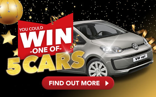 YOU COULD WIN ONE OF 5 CARS