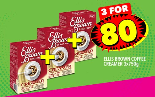 ELLIS BROWN COFFEE CREAMER 3x750g, 3 FOR 80