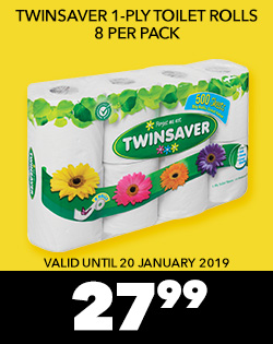 Twinsaver 1-ply Toilet Rolls 8 per pack